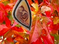 agate pendant with fall leaves 2